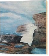 Azure Window - After Wood Print