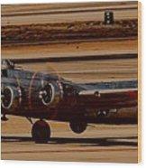 B-17 Bomber Wood Print