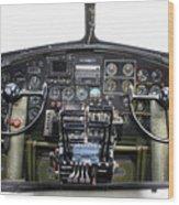 B-17 Cockpit Wood Print