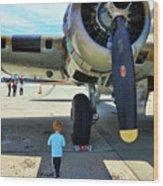 B-17 Engine Aircraft Wwii Wood Print