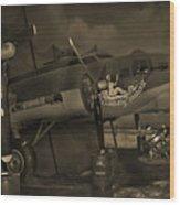 B - 17 Field Maintenance  Wood Print