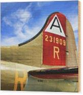 B-17 Tail Wwii Wood Print