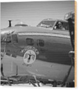 B-17 Taxiing For Departure Wood Print