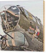 B-17 Texas Raiders Wood Print