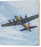B-17g Flying Fortress In Flight  Wood Print