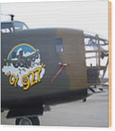 B-24 Nose Art Wood Print