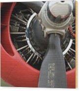 B-24 Prop Detail Wood Print