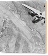 B-25 Bomber Over Germany Wood Print