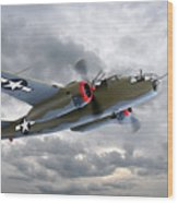 B-25 Mitchell Bomber Wood Print