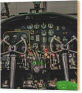 B-25 Mitchell Cockpit Wood Print