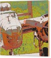 B-25 Red B Wood Print