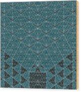 B - N W B  -  Blue Netwireblast Wood Print
