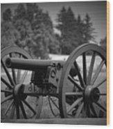 B W Canon Gettysburg Wood Print