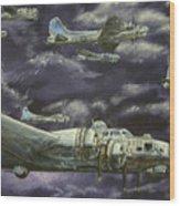 B17 Bomber Wood Print