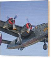 B24 Liberator Landing At Livermore Wood Print