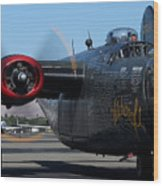 B24 Liberator Ready To Taxi Memorial Day Weekend 2015 Wood Print