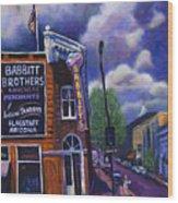 Babbitt Bldg. Wood Print