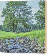 Babbling Creek Wood Print