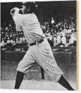 Babe Ruth 1895-1948 At Bat, Ca. 1920s Wood Print