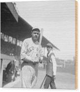 Babe Ruth, 1919 Wood Print by Everett
