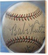Babe Ruth Baseball. Wood Print
