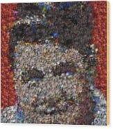 Babr Ruth Puzzle Piece Mosaic Wood Print