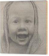 Baby 2 Portrait Wood Print