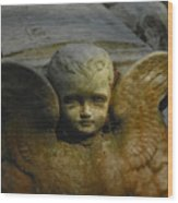 Baby Angel Wood Print