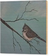 Baby Bird Wood Print by Ginny Youngblood