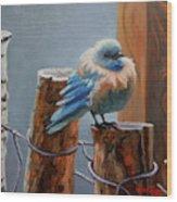 Baby Blue Wood Print