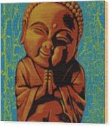 Baby Buddha Wood Print