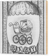 Baby Carriage Wood Print