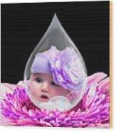 Baby Dewdrop Wood Print