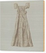 Baby Dress Wood Print