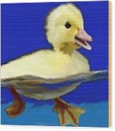 Baby Duck Wood Print