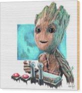 Baby Groot  Wood Print