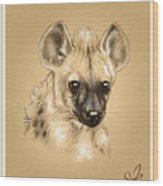 Baby Hyena Wood Print