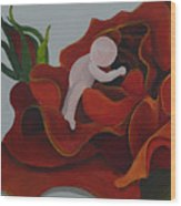 Baby In A Rose Wood Print