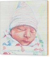Baby James Wood Print