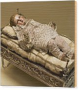 Baby Jesus In Lace Wood Print