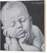 Baby Nap Wood Print