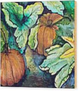 Baby Pumpkins Wood Print