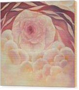 Baby Rose Wood Print