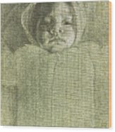 Baby Self Portrait Wood Print