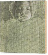 Baby Self Portrait Wood Print