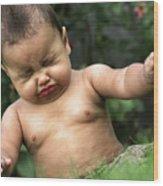 Baby Sneeze Wood Print