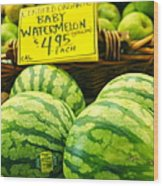 Baby Watermelons Wood Print