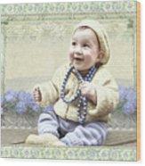 Baby Wears Beads Wood Print