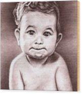 Babyface Wood Print