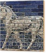 Babylon: Enamel Brick Bull Wood Print